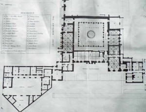 Plan of main floors from the 1860 sale catalogue